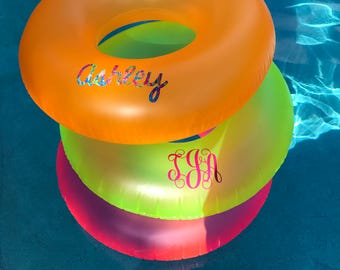 Monogrammed Pool Float, Personalized Pool Float, Pool Toys, Beach Float, Inner-Tube, Summer Monogram, Bachelorette Party, Vacation Gift