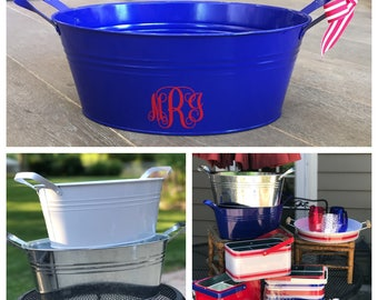 Monogrammed Beverage Bucket,Personalized Beverage Bucket, Customized Beverage Bucket, Beverage Tub, Housewarming Gift, Wedding Gift