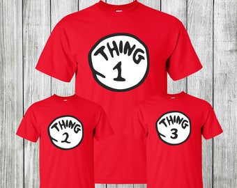 Thing 1 Thing 2 Shirts, Thing 1 Shirt, Halloween halloween costumes Matching Shirts Birthday Gift Christmas Gift Twin Baby Gift Twin Outfits