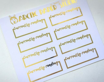 Currently Reading - FOILED Sampler Event Icons Planner Stickers