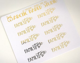 Family Time (NS)- FOILED Sampler Event Icons Planner Stickers