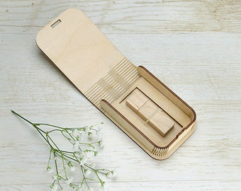 5 Natural USB BOX for USB packaging