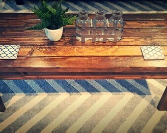 Rustic Farmhouse Coffee Table -  HGTV Fixer Upper - Modern Living Coffee Table - Custom Sizes Available.