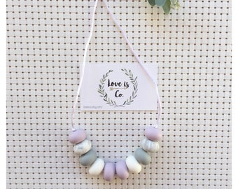 Lush Lavender ~ silicone teething necklace