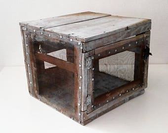 Great storage/aging cheese box. France