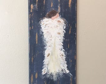 Angel Painting, angel art, guardian angel, acrylic painting, spiritual art, inspirational art, angel wings, religious art
