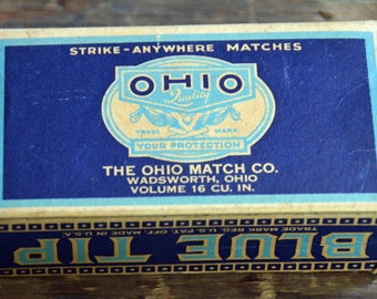 Ohio Blue Tip Matches box; Vintage