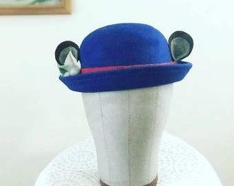 Bear Ears bowler hat