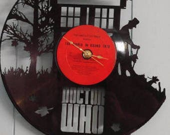 Dr. Who Vinyl Record Clock