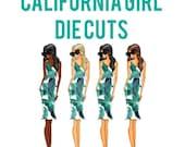 California Girl Die Cuts | Elle doll, fashion girl, summer dress, palm leaf