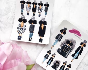 Fashion Girl Planner Stickers | Baby Elle Doll, Fashion Girl Illustration
