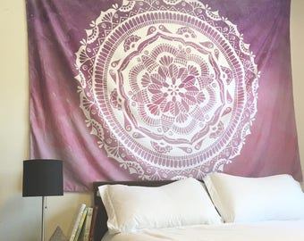 New Mandala Hippie Psychedelic Wall-Hanging Tapestry, Large (80 x 60 inches)