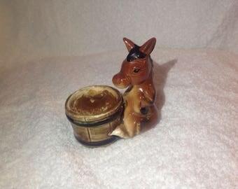 Donkey candleholder