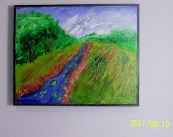 8 by 10 acrylic painting