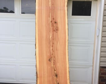 Wide live edge eastern red cedar slab