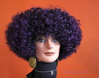 "READY TO SHIP //Synthetic crochet wig  ""Passionatley Purple"""