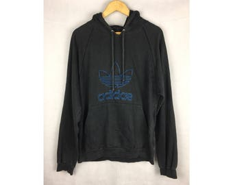 ADIDAS TREFOIL Vintage Hoodies Medium Size Hoodies With Big Spell Out Embroidery Logo