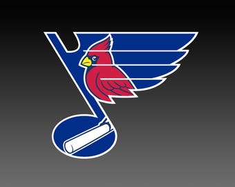 St Louis Blues with Cardinal logo, SVG Files, Hockey Clipart, Cricut St Louis Baseball svg, Hockey DXF, Instant Download
