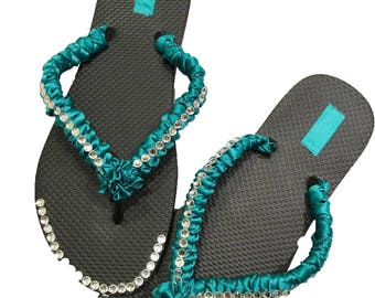 flip flop with rhinestones