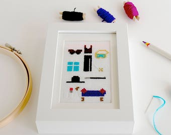 Cross Stitch Art inspired by my favourite films
