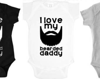 Bearded daddy, shirts for men, gifts for dad, Father's Day, funny shirts, daddy and me, first Father's Day, 1st Father's Day
