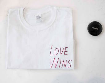 Love Wins Oversized Cropped Tee **Free Shipping**