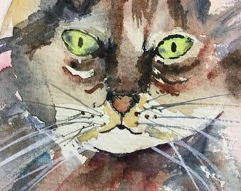 Colorful Kitty Watercolor Painting // #Kid's Art // #Nursery Art
