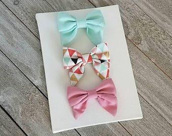 Baby bows, baby sailor bows