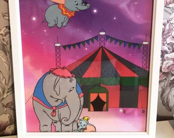Dumbo and Mrs Jumbo Circus Print