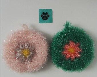 Set of 2 tawashi sponge ware/shower/scrubbie kitchen