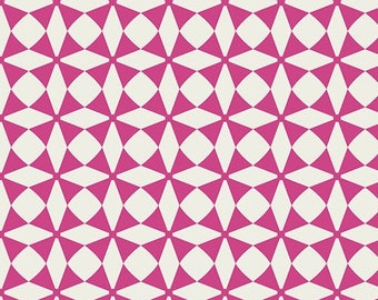 Fun! Art Gallery Blush Windmill Magenta 100 % cotton Quilting fabric BSH-88402.  By the yard, cut to order