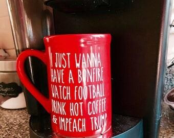Double-Sided Coffee Mug / For the Guys / Coffee Mug / Fall Stuff / Impeach Trump / I Love Fall / Autumn Coffee Mug / Political Coffee Mug