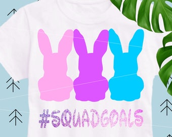Easter SVG Squadgoals svg Bunny SVG Rabbits svg Happy Easter SVG file for Cricut Silhouette Easter cut file