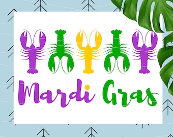 Mardi Gras Crawfish svg Mardi Gras SVG for Silhouette Cricut cut file svg cutting file svg cut files svg dxf eps png lfvs