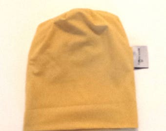 organic top knotted hat, baby beanie hat, knotted baby hat, baby girl hat, newborn knotted beanie, mustard beanie hat, baby shower gift