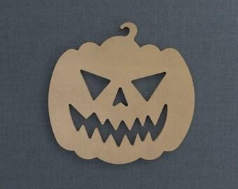Halloween Pumpkin, Pumpkin Cutout Wood Cutout, Unfinished Sign