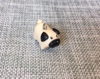 Cute pug charm