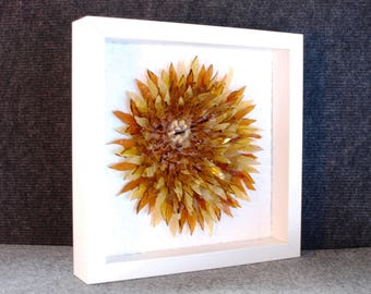 "Fadeless flower of stained glass - is the best gift. Chrysanthemum ""Amber"""