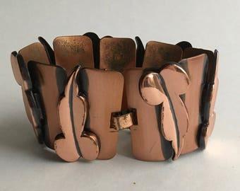 Renoir mid-century copper bracelet