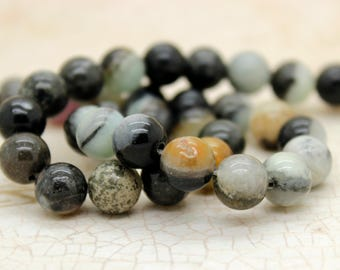 Amazonite Smooth Round Gemstone Beads