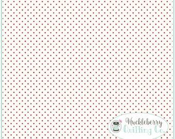 Red Swiss Dot, Polka Dot Fabric, Riley Blake Fabrics, Christmas Fabric, Fabric Yardage 100% cotton fabric