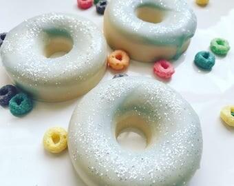 Fruit Loops Glazed Donut Wax Melt, fruit loops wax melt, fruit loops wax tart, wax melts, wax tarts, cute wax melts, donut wax melts, donut