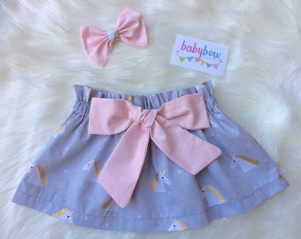 Baby/Girl Lola skirt and bow set