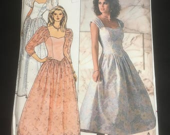 Vintage Retro Sewing Pattern, 1987 Evening Dress