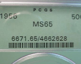 Franklin Half Dollar 1956  PCGS   MS-65 Toned Both Sides<>ETB4934