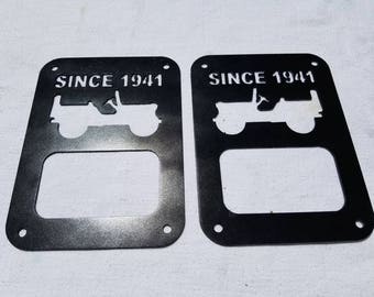 Jeep JK Tail Light Cover, Jeep Willy Graphic