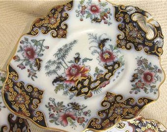 Vintage German Heavily Decorated Plate & Serving Dish Set, Beautifully Decorated Continental Ceramics #r249