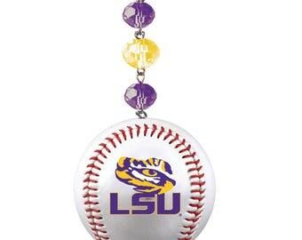 LOUISIANA STATE  Tigers *Baseball* MAGNETIC Ornament,Lsu Home Decor,Lsu Tigers Decor,Lsu Tigers,Lsu Ornament,Tigers,Lsu gift,Tigers