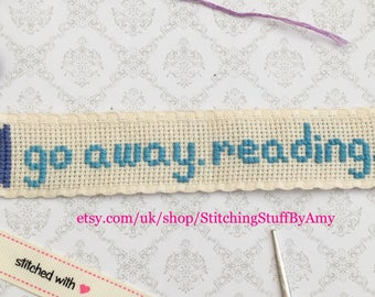 go away. reading. bookmark