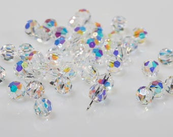 24 pieces Swarovski crystal from crystal beads art. #5000 8 mm round bead beads-Swarovski Elements-vintage new from old stock